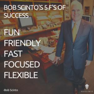 Bob Scinto's 5 F's
